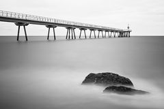 Pont del petroli, Badalona, Spain Royalty Free Stock Photos