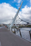 Pont Derry Northern Ireland de paix Image libre de droits