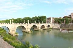 Pont des anges, Rome Photographie stock