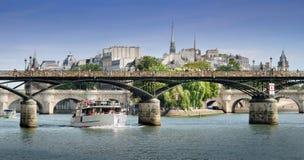 Pont des Arts γέφυρα. Στοκ φωτογραφίες με δικαίωμα ελεύθερης χρήσης