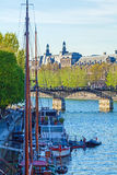 Pont des Arts, για τους πεζούς γέφυρα στο Παρίσι Στοκ Εικόνα