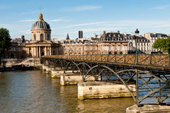 Pont des Arts στο Παρίσι Στοκ Εικόνες