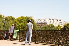 Стручк-замки Pont des Arts стоковые изображения rf