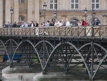 Pont des Arts, bevor Vorhängeschlösser entfernt werden Lizenzfreies Stockbild