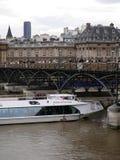 Pont des Arts, bevor Vorhängeschlösser entfernt werden Lizenzfreie Stockbilder