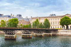 Pont des Arts, bridge over the River Seine in Paris Stock Photography