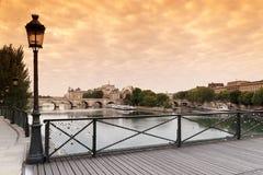 Pont des arts bridge in Paris Royalty Free Stock Photos