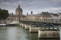 Pont des Arts Bridge, Paris Stock Photo