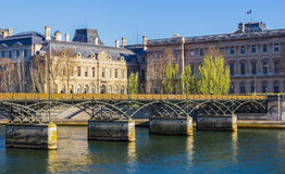 Pont des Arts Bridge Stock Image