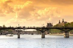 Pont des arts bridge in Paris center Royalty Free Stock Images