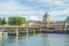 Pont des arts bridge in Paris, France Royalty Free Stock Photos