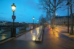 Pont des Arts di mattina Fotografie Stock Libere da Diritti