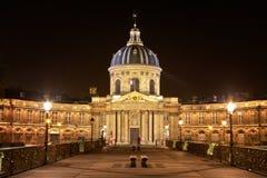 Pont des Arts en Institut DE Frankrijk Royalty-vrije Stock Afbeeldingen