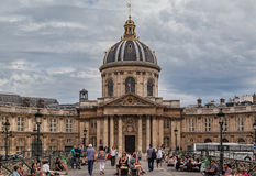 Pont des Arts and France Institut Paris Stock Photography