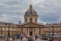 Pont des Arts and France Institut Paris Stock Photography