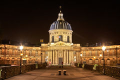 The Pont des Arts and Institut de France Royalty Free Stock Images