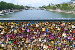 Pont des Arts key Bridge Royalty Free Stock Photo