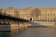 Pont des arts and Louvre Paris Royalty Free Stock Photography