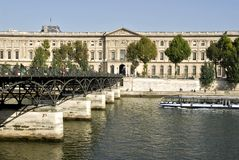 Pont des arts and Louvre Paris Stock Images