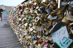 Pont des Arts op de rivierzegen royalty-vrije stock fotografie