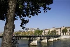 Pont des arts in Parijs Stock Foto