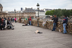 Pont des Arts in Paris Royalty Free Stock Photo