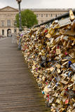 Pont des Arts in Paris, France Stock Photos