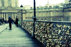 pont des arts Paryża Fotografia Royalty Free