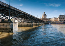 The Pont des Arts or Passerelle des Arts is a pedestrian bridge Stock Photos