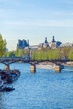 Pont des Arts, pedestrian bridge in Paris Royalty Free Stock Photos
