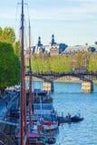Pont des Arts, pedestrian bridge in Paris Stock Image