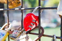 Pont des Arts Pod-locks Royalty Free Stock Photography