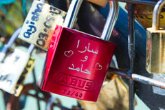 Pont des Arts Pod-locks Stock Images