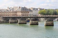 Pont des Arts through Seine. Bridge of Arts Royalty Free Stock Image