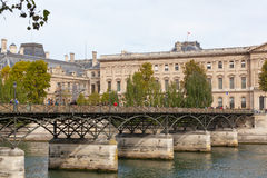Pont des Arts through Seine. Royalty Free Stock Photography