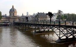 Pont des Arts on the Seine river Paris Royalty Free Stock Photography