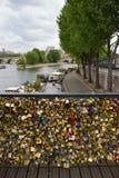 Pont des Arts. A symbol of Paris, Pont des Arts Stock Photos
