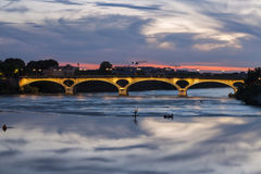 Pont des Catalans in Toulouse Stock Images