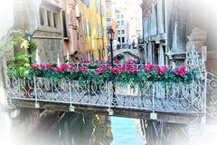 Pont des fleurs Photos stock