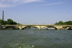 Pont des invalides Bridge over the river seine paris france. Horizontal royalty free stock photography