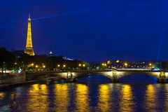 Pont des Invalides and the Eiffel Tower in Paris Stock Images