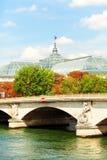 Pont des Invalides, Paris Arkivbild