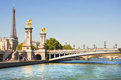 Pont des Invalides in Paris city Stock Images