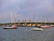Pont des lions à St Augustine Images stock