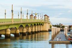 Pont des lions à St Augustine, Etats-Unis images libres de droits