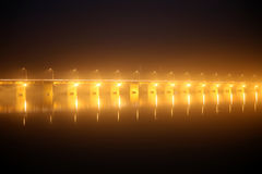 Pont des martyrs Bridge at night Royalty Free Stock Images