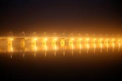 Pont des martyrs Bridge at night Royalty Free Stock Images