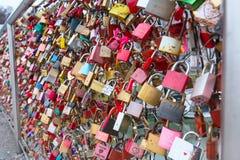Pont des serrures à Salzbourg, Autriche Photo stock