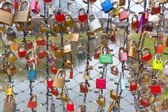 Pont des serrures à Salzbourg, Autriche Images stock