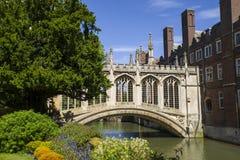 Pont des soupirs à Cambridge Images libres de droits